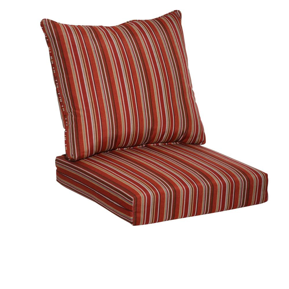 Best ideas about Lounge Chair Cushions . Save or Pin Hampton Bay Dragonfruit Stripe 2 Piece Deep Seating Now.