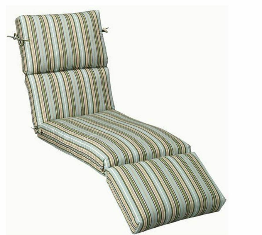 Best ideas about Lounge Chair Cushions . Save or Pin Outdoor Patio Chaise Lounge Chair Cushion Stripe Now.
