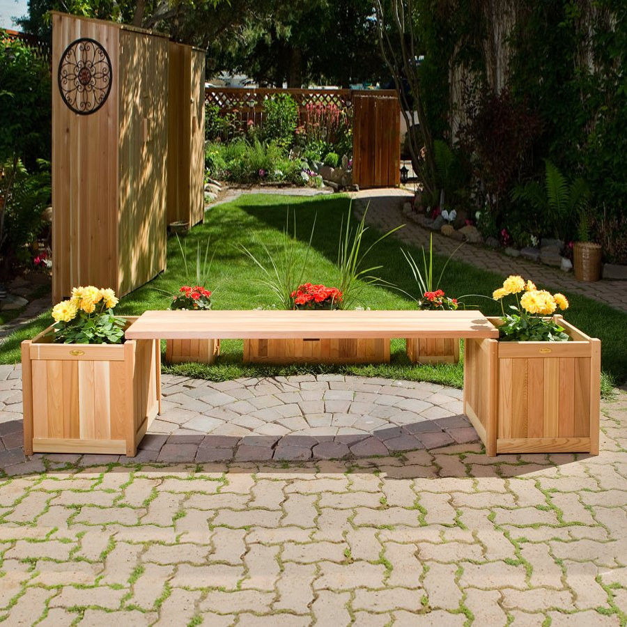 Best ideas about Lowes Outdoor Planters . Save or Pin All Things Cedar PLB60U 3P 3 Piece Planter Box with Bench Now.