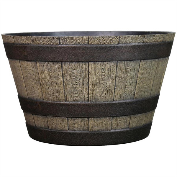 Best ideas about Lowes Outdoor Planters . Save or Pin Garden Treasures 19 in Resin Whiskey Barrel Planter Now.