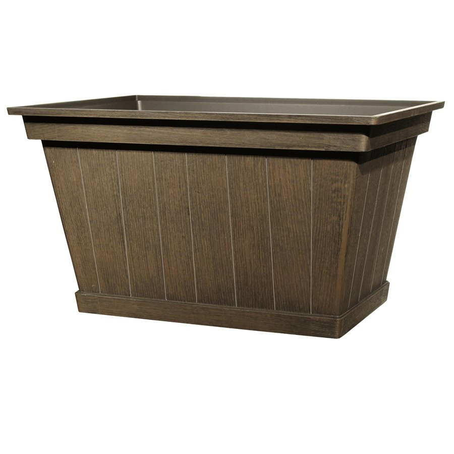 Best ideas about Lowes Outdoor Planters . Save or Pin Rectangular Harvest Garden Planter Now.