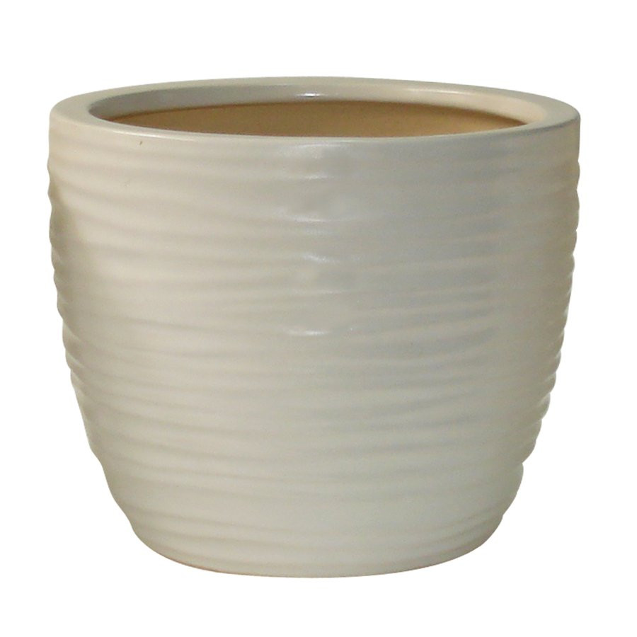 Best ideas about Lowes Outdoor Planters . Save or Pin allen roth 8 in White Wave Planter Now.