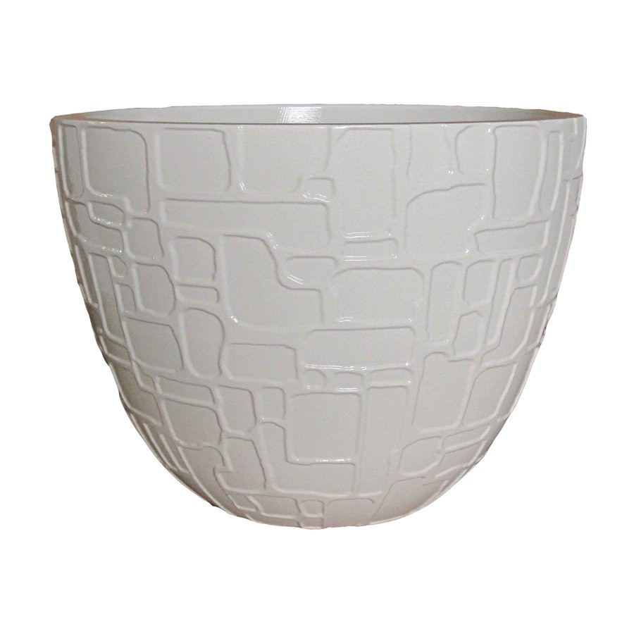 Best ideas about Lowes Outdoor Planters . Save or Pin allen roth Sydney White Decorative Planter Now.