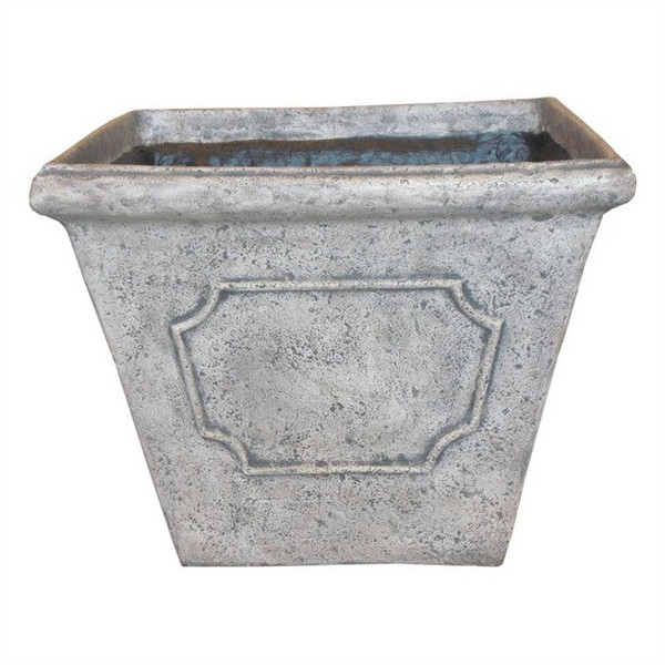 Best ideas about Lowes Outdoor Planters . Save or Pin Garden Treasures Contemporary Square Fiberglass Planter Now.
