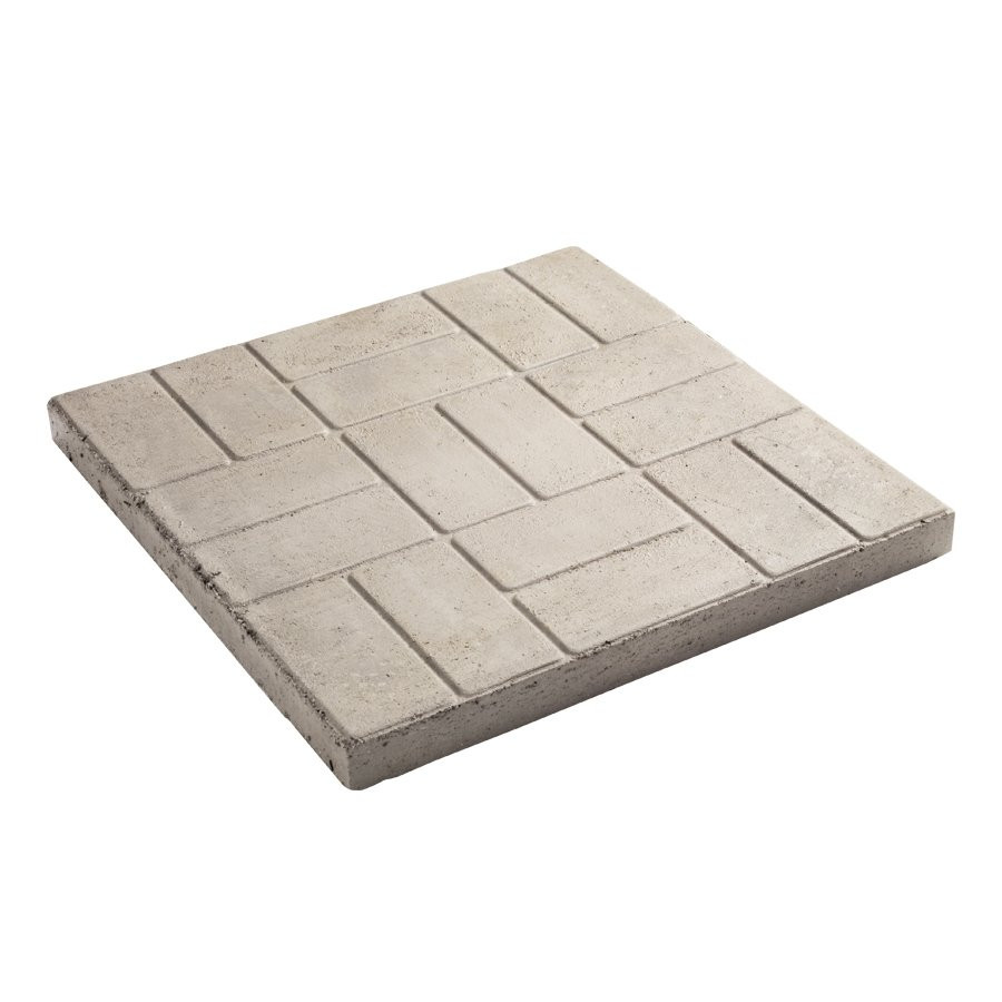 Best ideas about Lowes Patio Stones . Save or Pin Decor Fulton 24 in Brick Pattern Square Patio Stone Now.