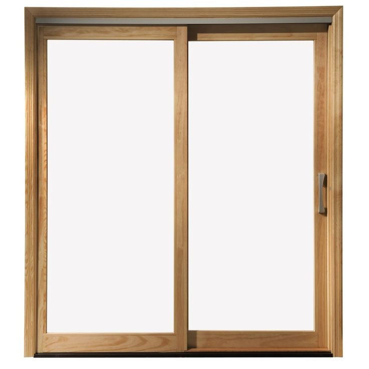 Best ideas about Lowes Sliding Patio Doors . Save or Pin Shop Pella 450 Series 71 25 in Clear Glass Wood Sliding Now.