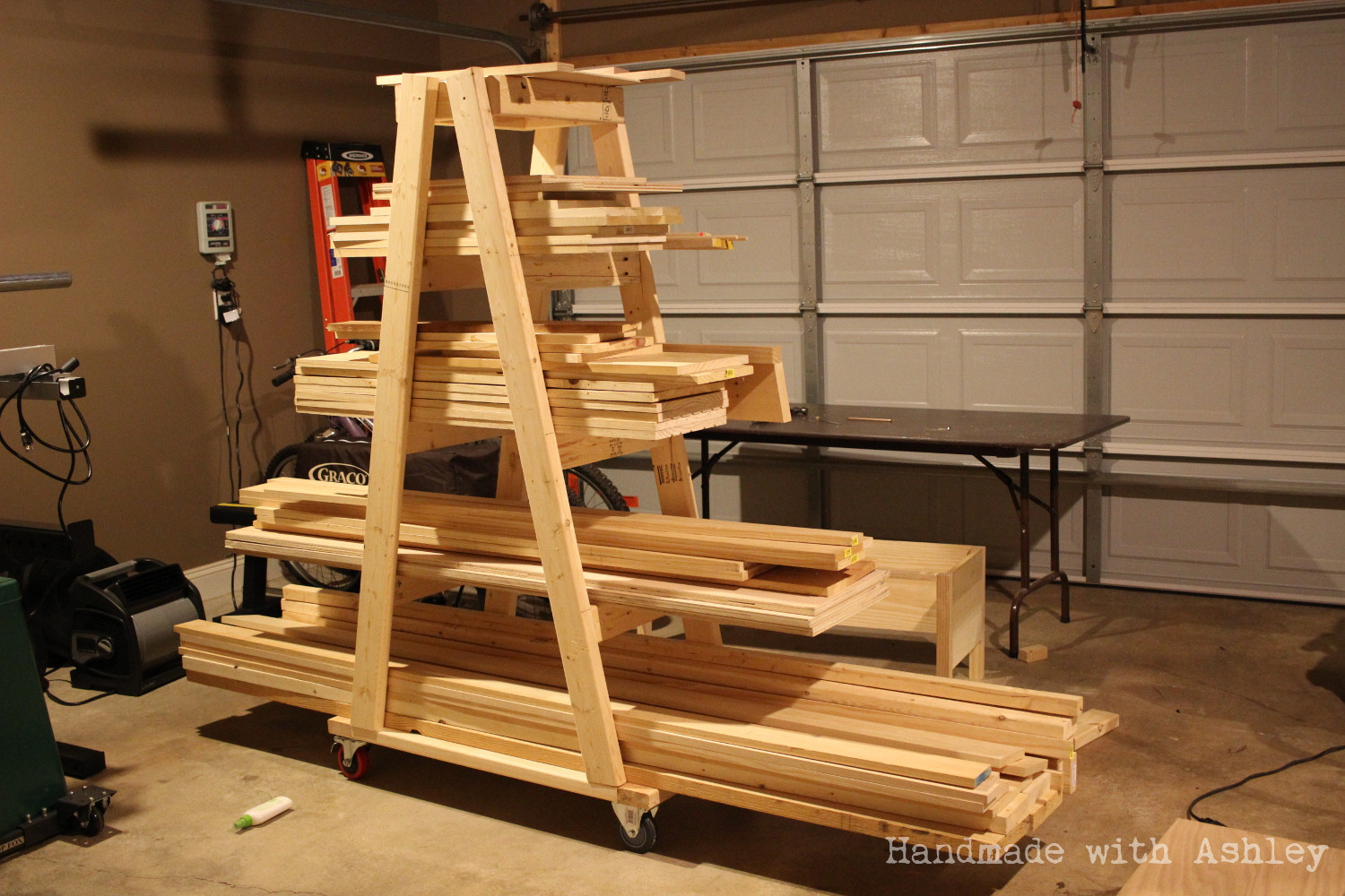 Best ideas about Lumber Rack DIY . Save or Pin DIY Mobile Lumber Rack Plans by Rogue Engineer Now.