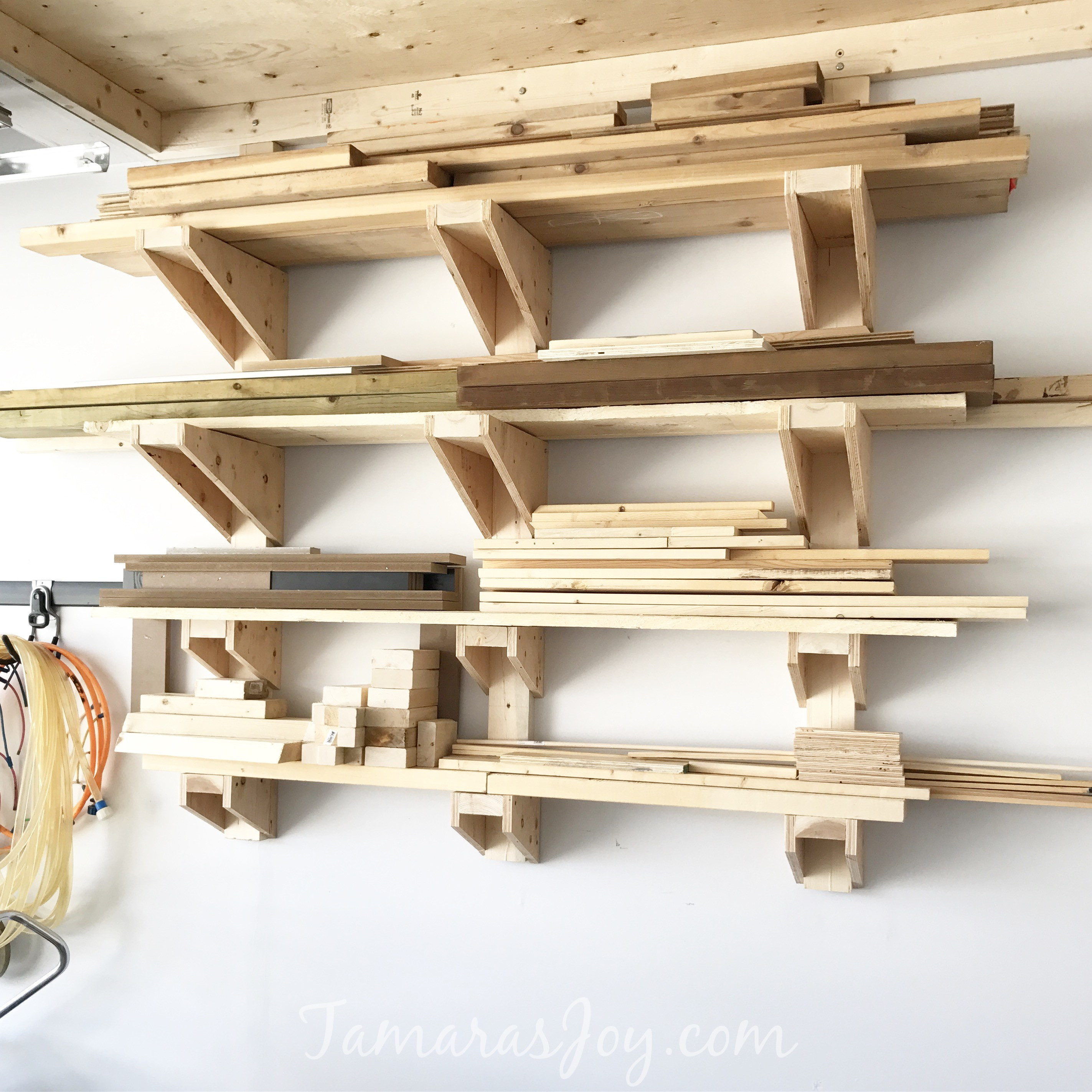 Best ideas about Lumber Rack DIY . Save or Pin A Simple DIY Garage Lumber Rack that YOU can build Now.