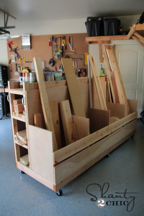 Best ideas about Lumber Rack DIY . Save or Pin Garage Organization DIY Lumber Cart Shanty 2 Chic Now.