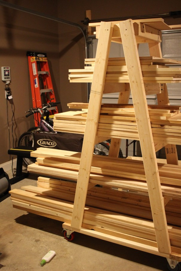 Best ideas about Lumber Storage Ideas . Save or Pin DIY Mobile Lumber Rack Plans by Rogue Engineer Now.