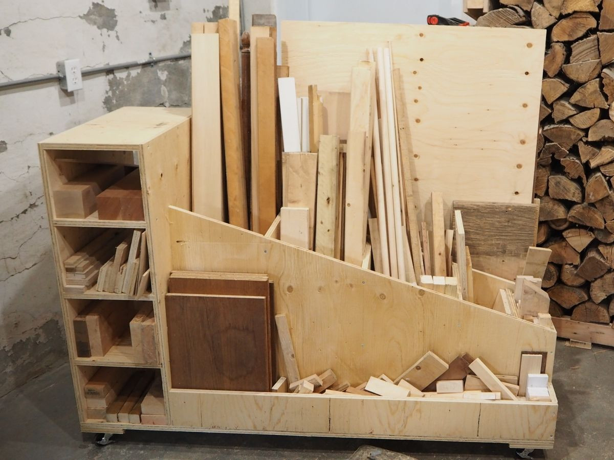 Best ideas about Lumber Storage Ideas . Save or Pin rolling mobile lumber storage rack Now.