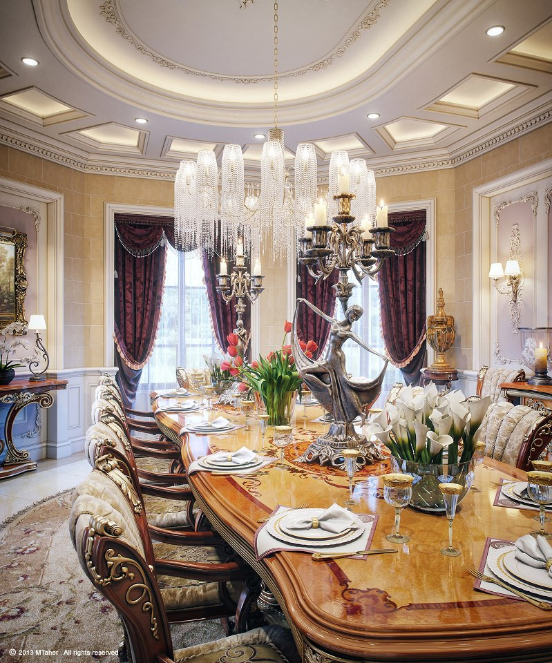 Best ideas about Luxury Dining Room . Save or Pin Luxury Villa in Qatar [Visualized] Now.