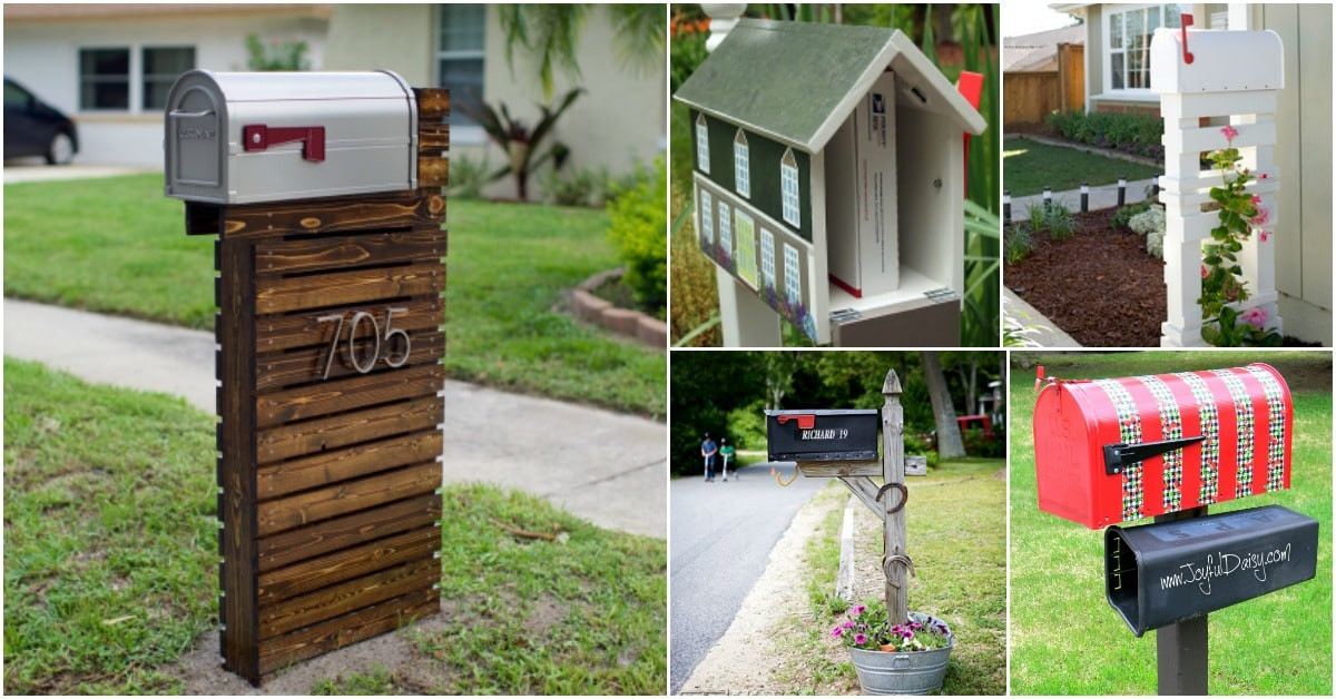 Best ideas about Mailbox Post DIY . Save or Pin 15 Amazingly Easy DIY Mailboxes That Will Improve Your Now.