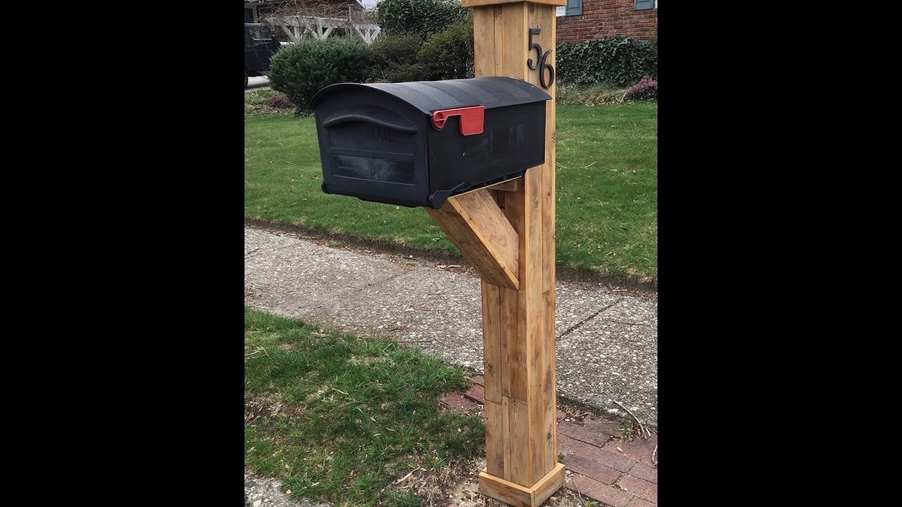 Best ideas about Mailbox Post DIY . Save or Pin DIY Mailbox Post Now.