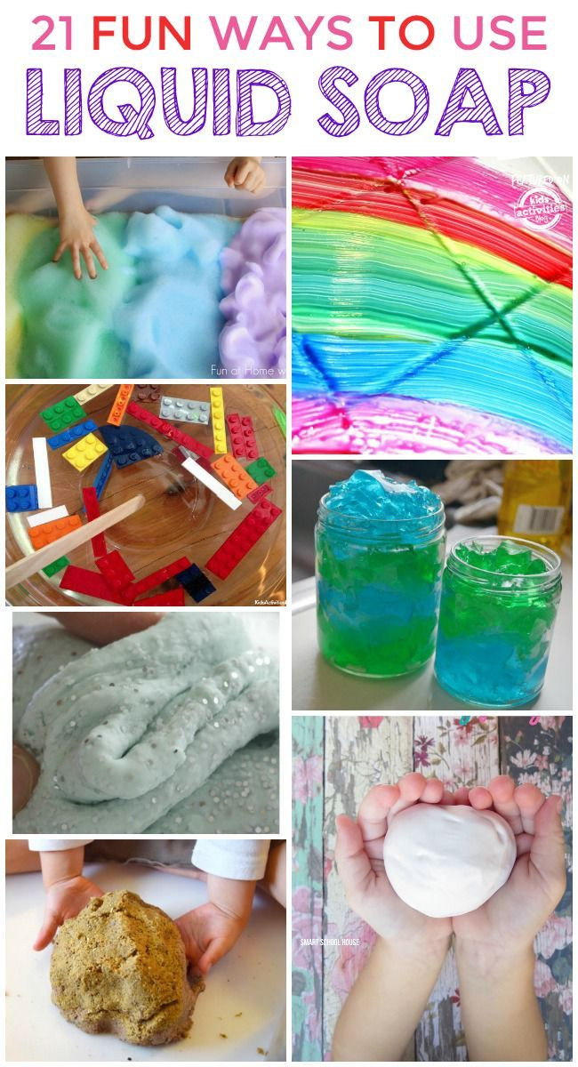 Best ideas about Making Stuff For Kids . Save or Pin 21 Super Cool Things To Make With Liquid Soap Now.