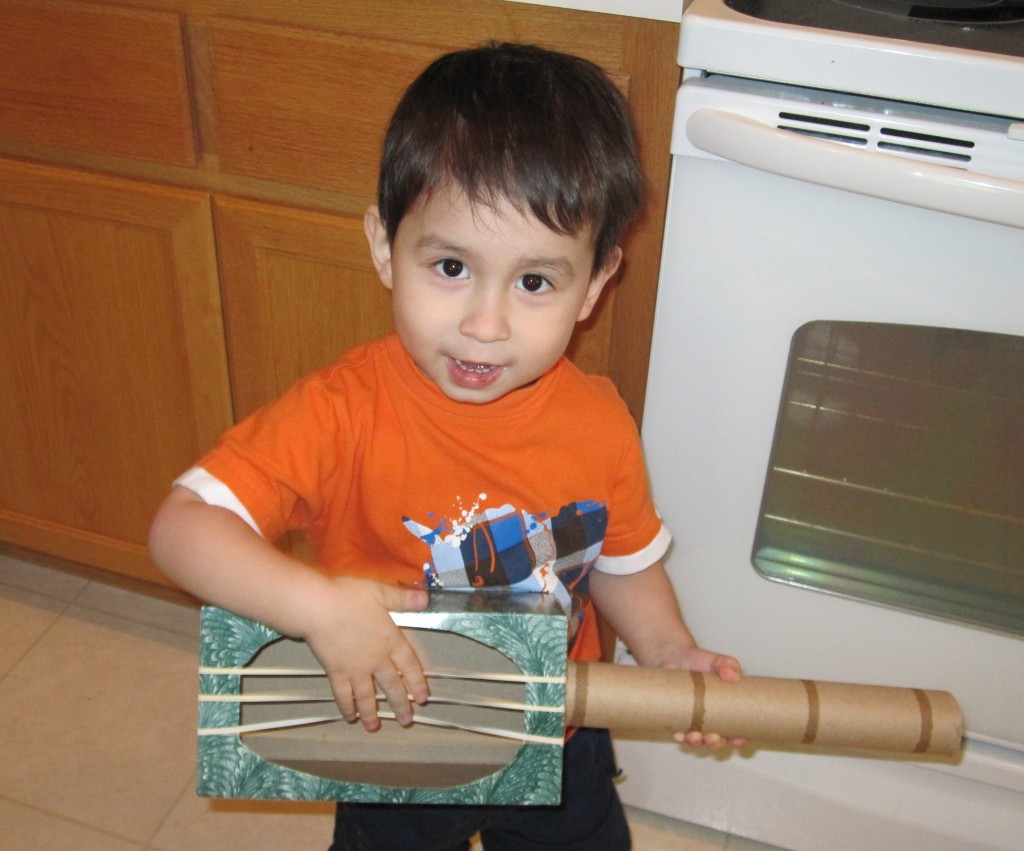 Best ideas about Making Stuff For Kids . Save or Pin Green Crafts How to Make a Guitar Toy Out of Recycled Now.