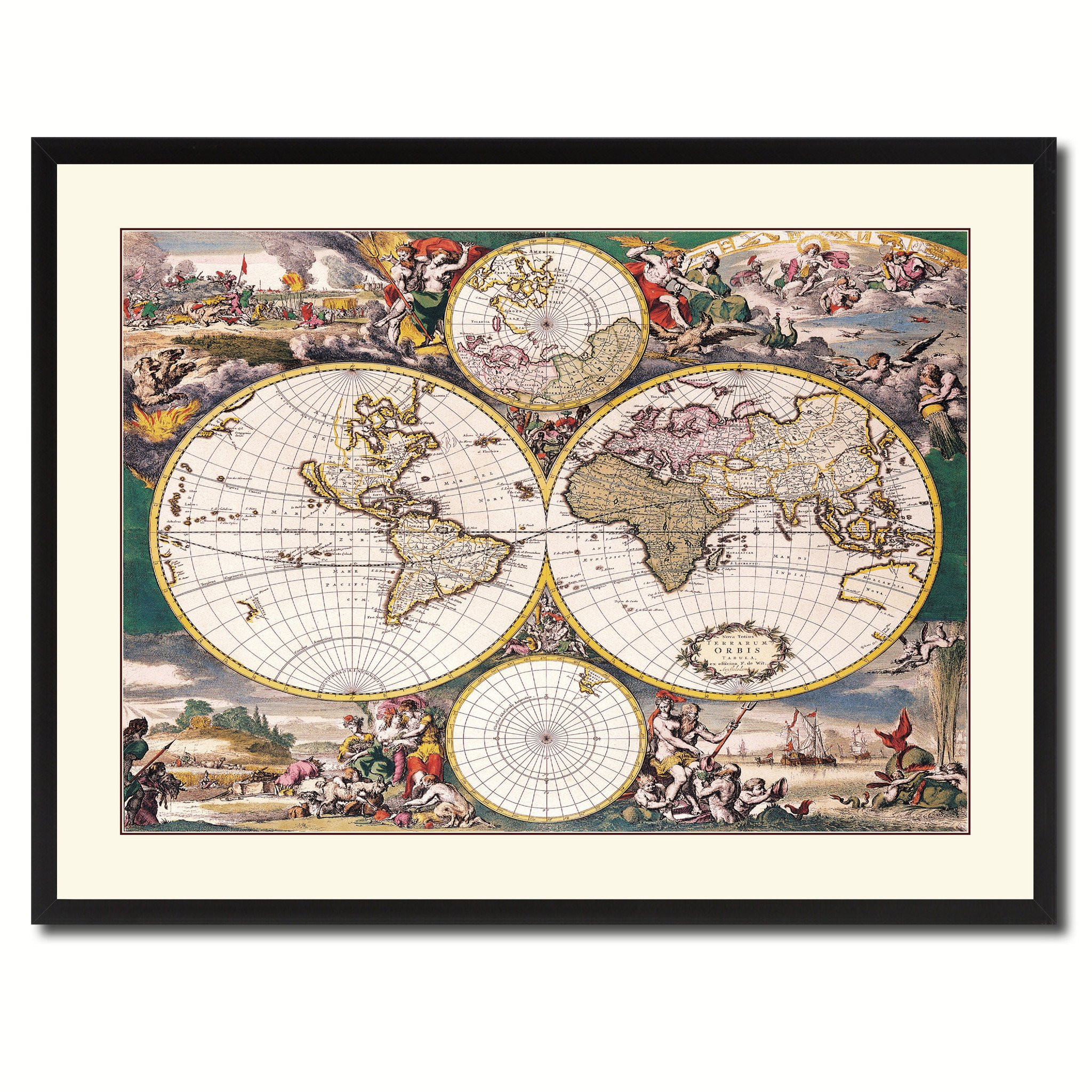 Best ideas about Map Wall Art . Save or Pin Frederick Ee Wit Vintage Antique Map Wall Art Home Decor Now.