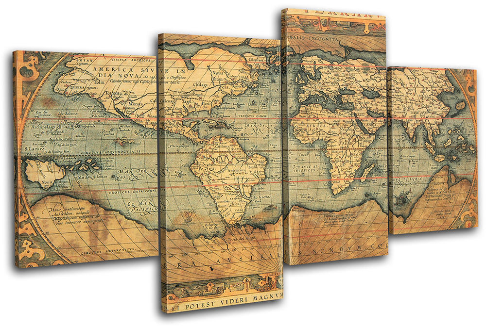 Best ideas about Map Wall Art . Save or Pin Old World Atlas Maps Flags MULTI CANVAS WALL ART Picture Now.