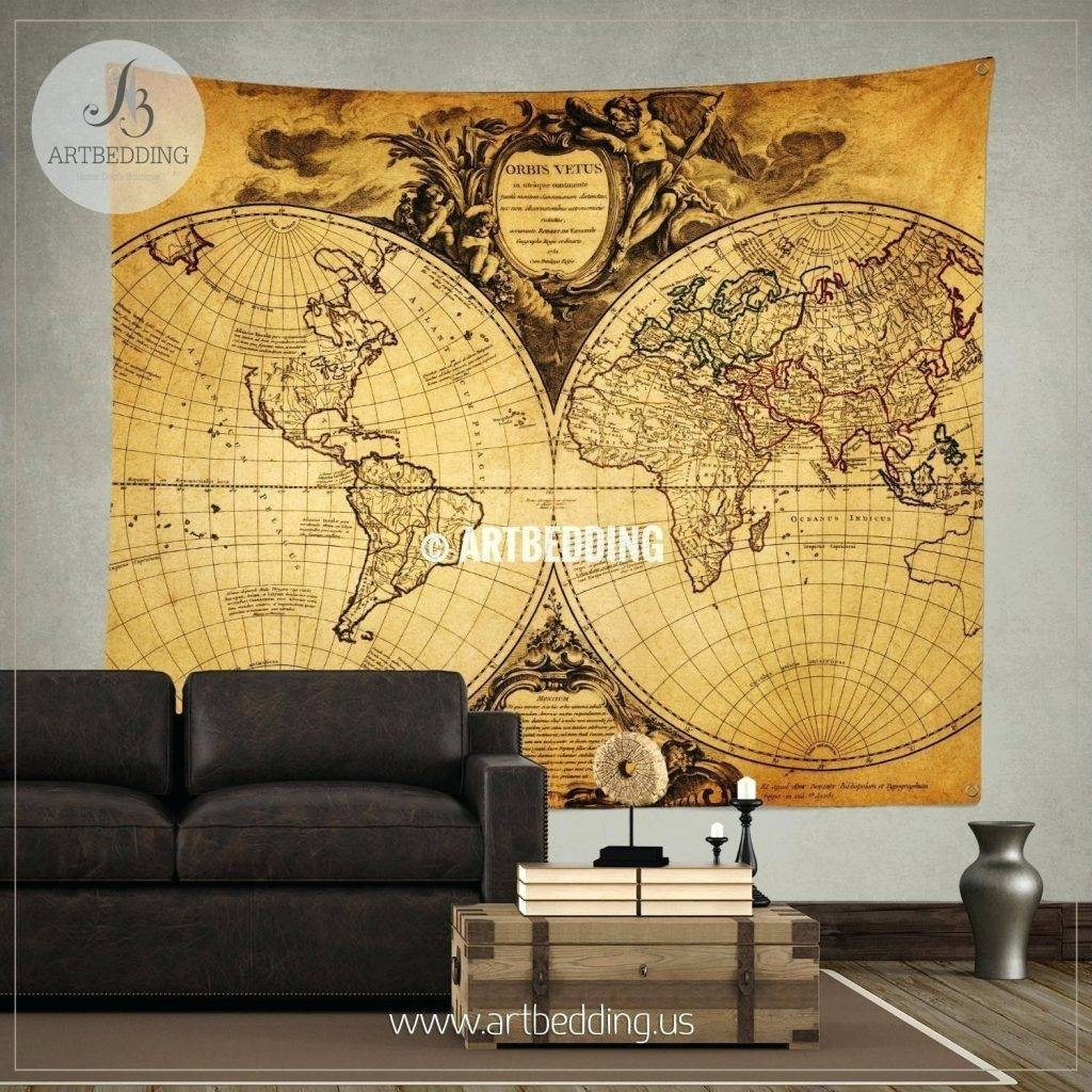 Best ideas about Map Wall Art . Save or Pin 2018 Latest Map Wall Art Maps Now.