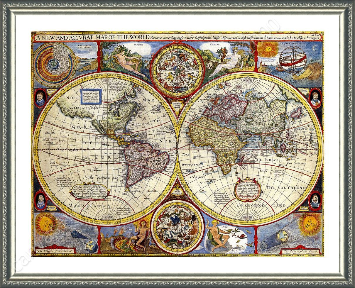 Best ideas about Map Wall Art . Save or Pin FRAMED Poster Antique Old Vintage V1 World Map Framed Now.
