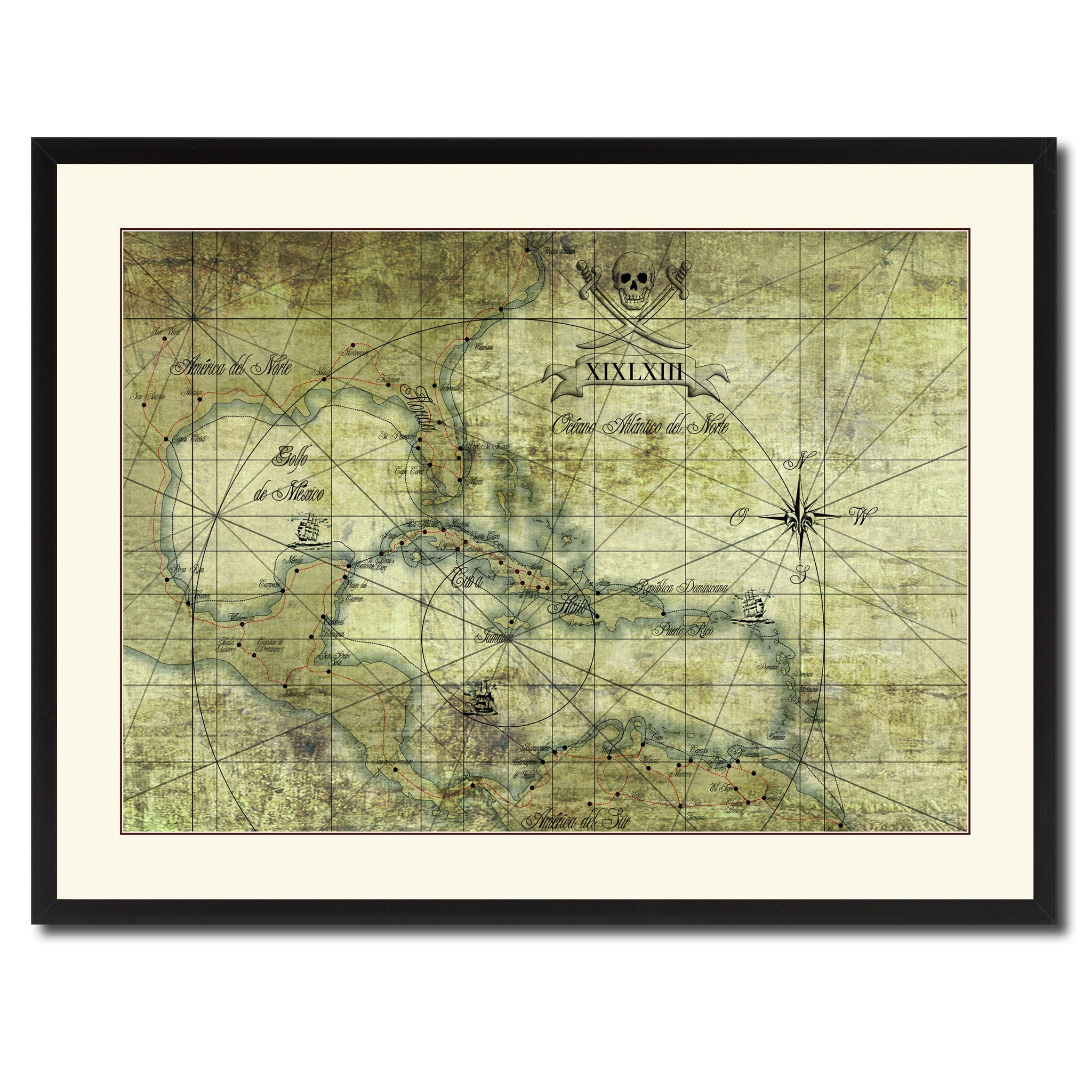 Best ideas about Map Wall Art . Save or Pin Caribbean Vintage Antique Map Wall Art Home Decor Gift Now.