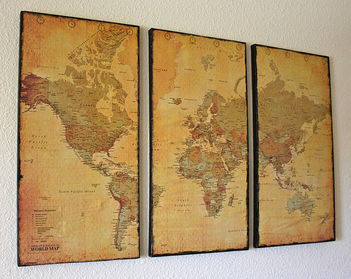 Best ideas about Map Wall Art . Save or Pin World Map Wall Art Now.