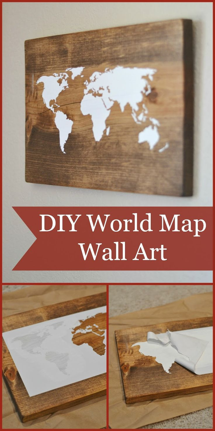 Best ideas about Map Wall Art . Save or Pin 17 Best ideas about World Map Art on Pinterest Now.