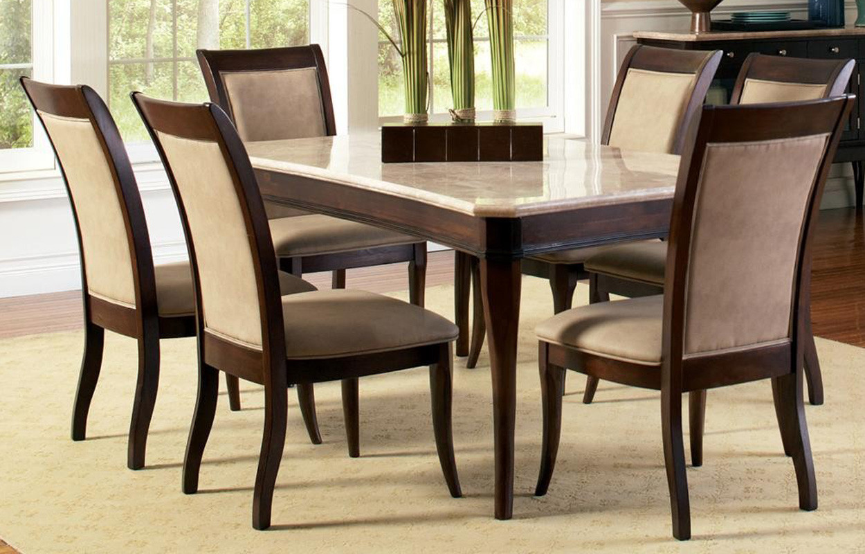 Best ideas about Marble Top Dining Table . Save or Pin Contemporary Marble Top 8 Piece Dining Table and Chair Set Now.