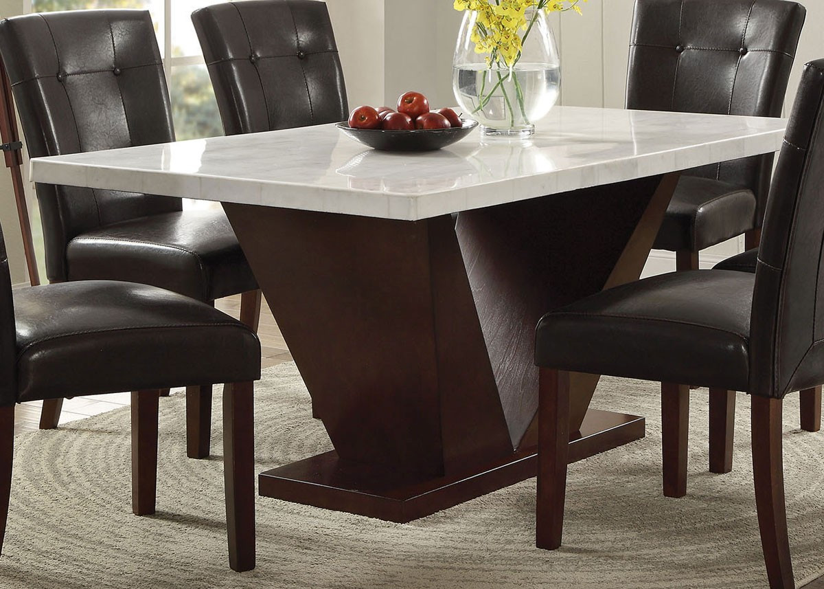 Best ideas about Marble Top Dining Table . Save or Pin Majela Modern Marble Top Dining Table Set Now.