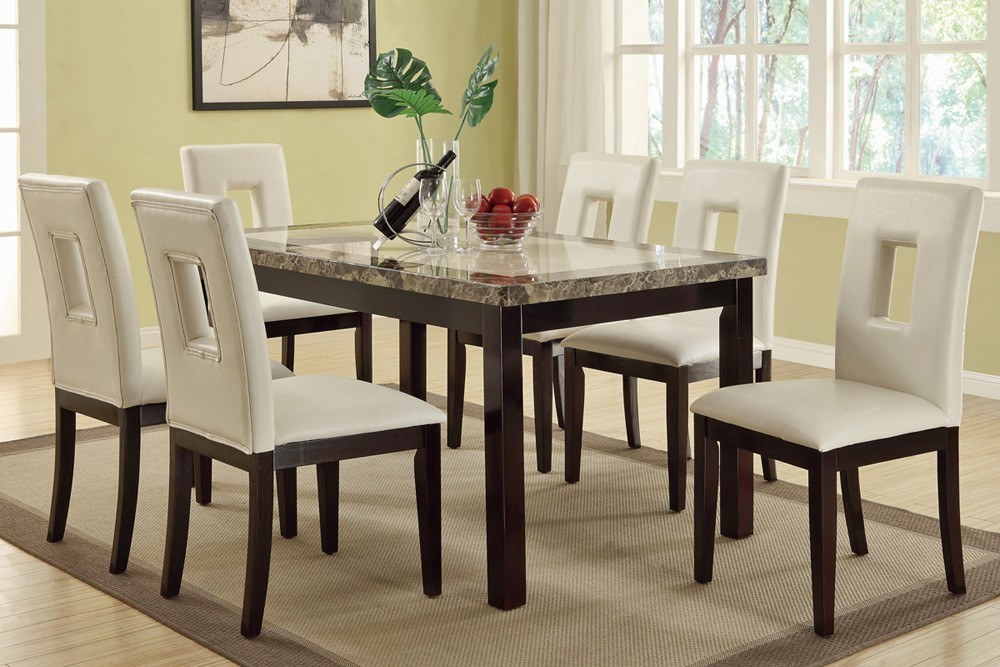 Best ideas about Marble Top Dining Table . Save or Pin Brayden Faux Marble Top Dining Table Now.
