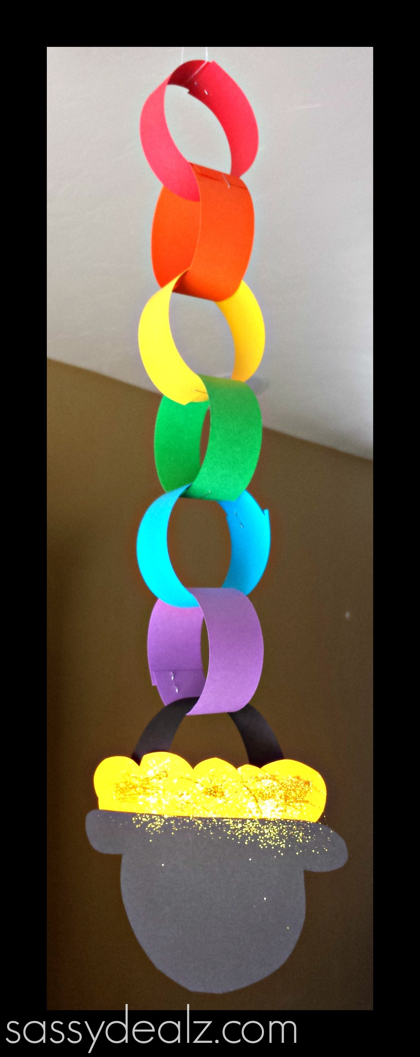 Best ideas about March Crafts For Kids . Save or Pin Rainbow Chain Craft For St Patrick s Day Crafty Morning Now.