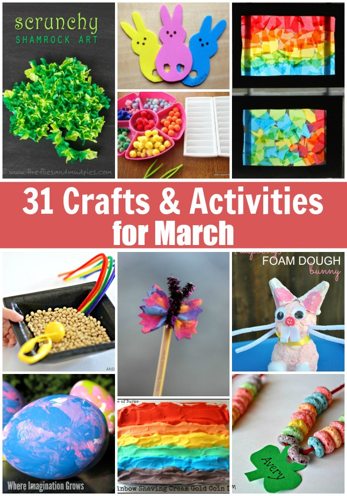 Best ideas about March Crafts For Kids . Save or Pin 31 Days of March Crafts & Activities for Kids Where Now.