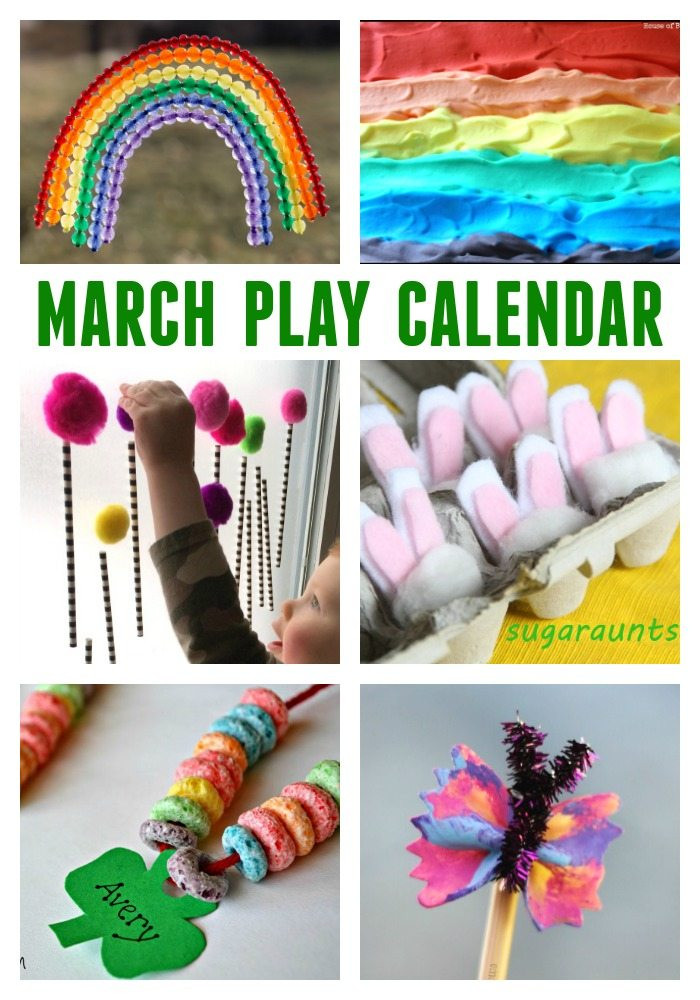 Best ideas about March Crafts For Kids . Save or Pin March Activities for Kids Free Monthly Play Calendar Now.