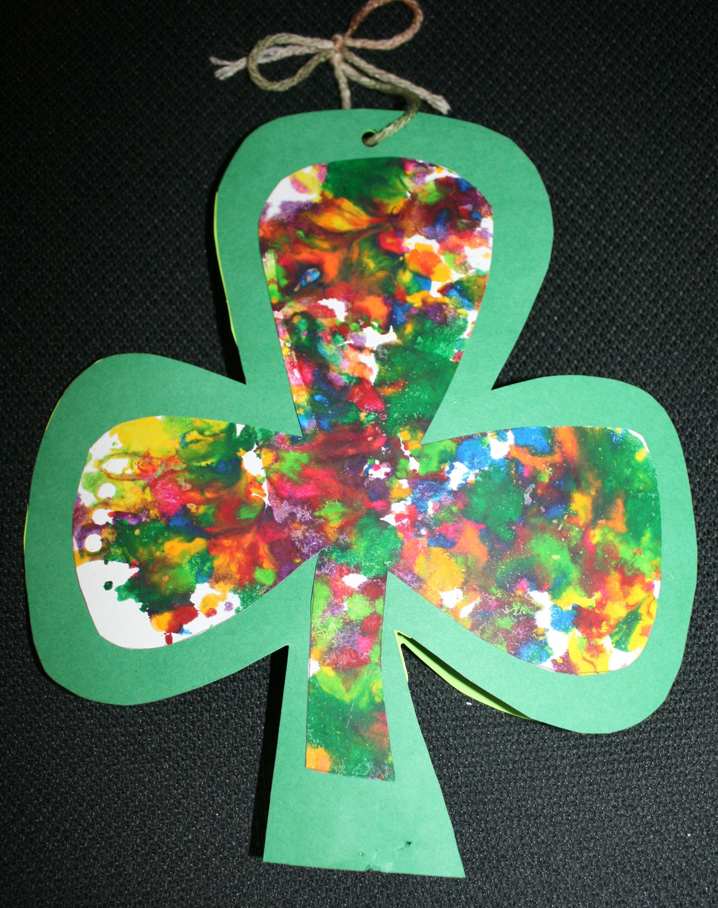 Best ideas about March Crafts For Kids . Save or Pin Shamrock craft for St Patrick s Day Now.