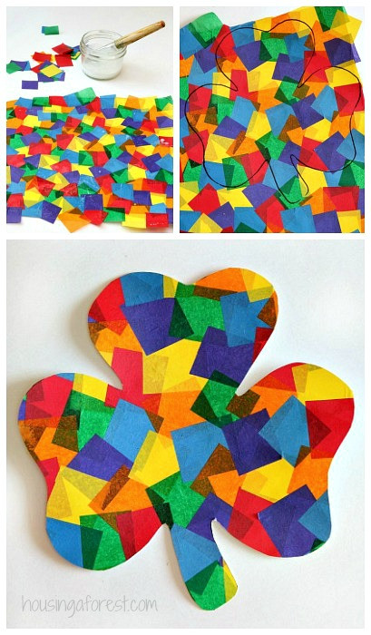 Best ideas about March Crafts For Kids . Save or Pin Rainbow Shamrock Craft Now.