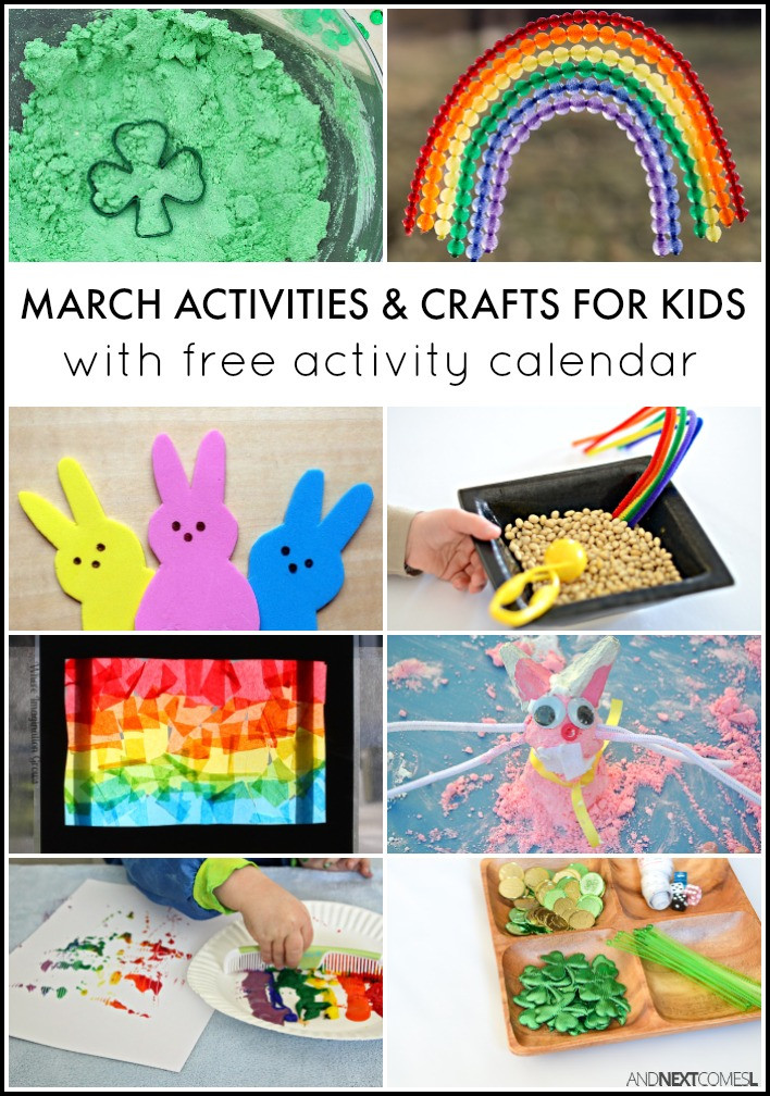 Best ideas about March Crafts For Kids . Save or Pin 31 March Activities for Kids Free Activity Calendar Now.
