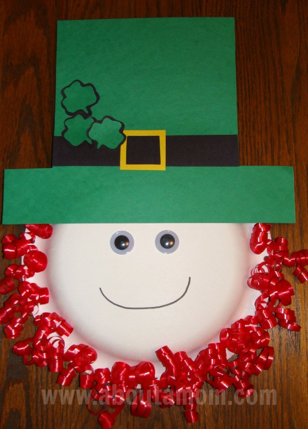 Best ideas about March Crafts For Kids . Save or Pin Leprechaun Paper Plate Craft for St Patrick s Day Now.