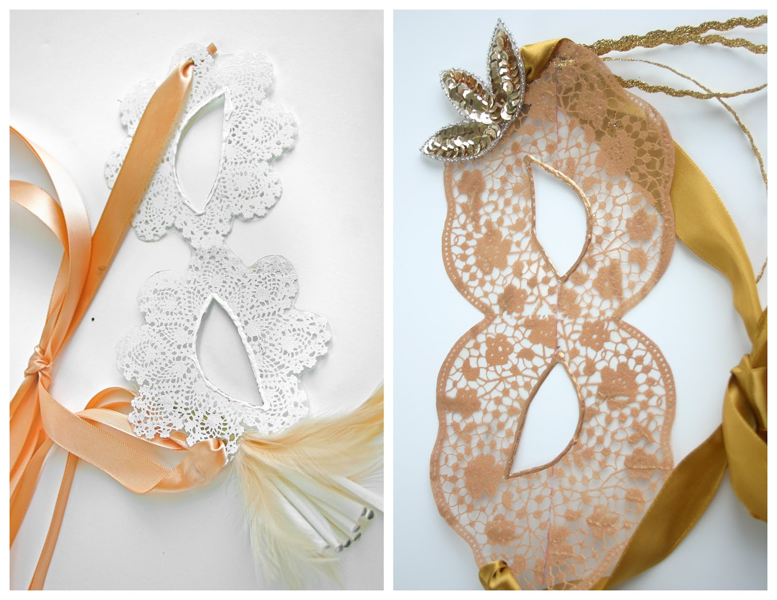 Best ideas about Masquerade Masks DIY . Save or Pin Grosgrain DIY Paintable Faux Lace Masquerade Masks Now.