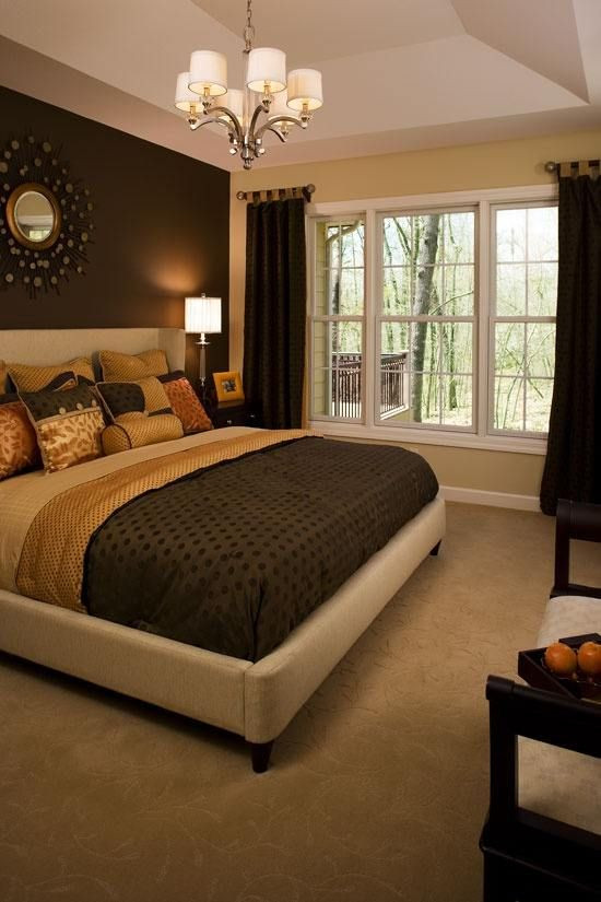 Best ideas about Master Bedroom Accent Wall . Save or Pin Chocolate and Tan Walls For our master bedroom ybe red Now.
