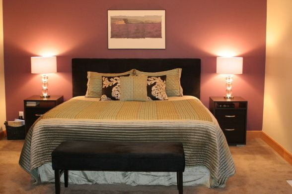 Best ideas about Master Bedroom Accent Wall . Save or Pin master bedroom deep purple accent wall Now.