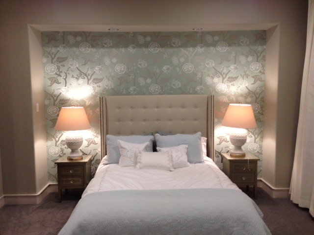 Best ideas about Master Bedroom Accent Wall . Save or Pin A Little Hollywood Glam in a Master Bedroom Now.