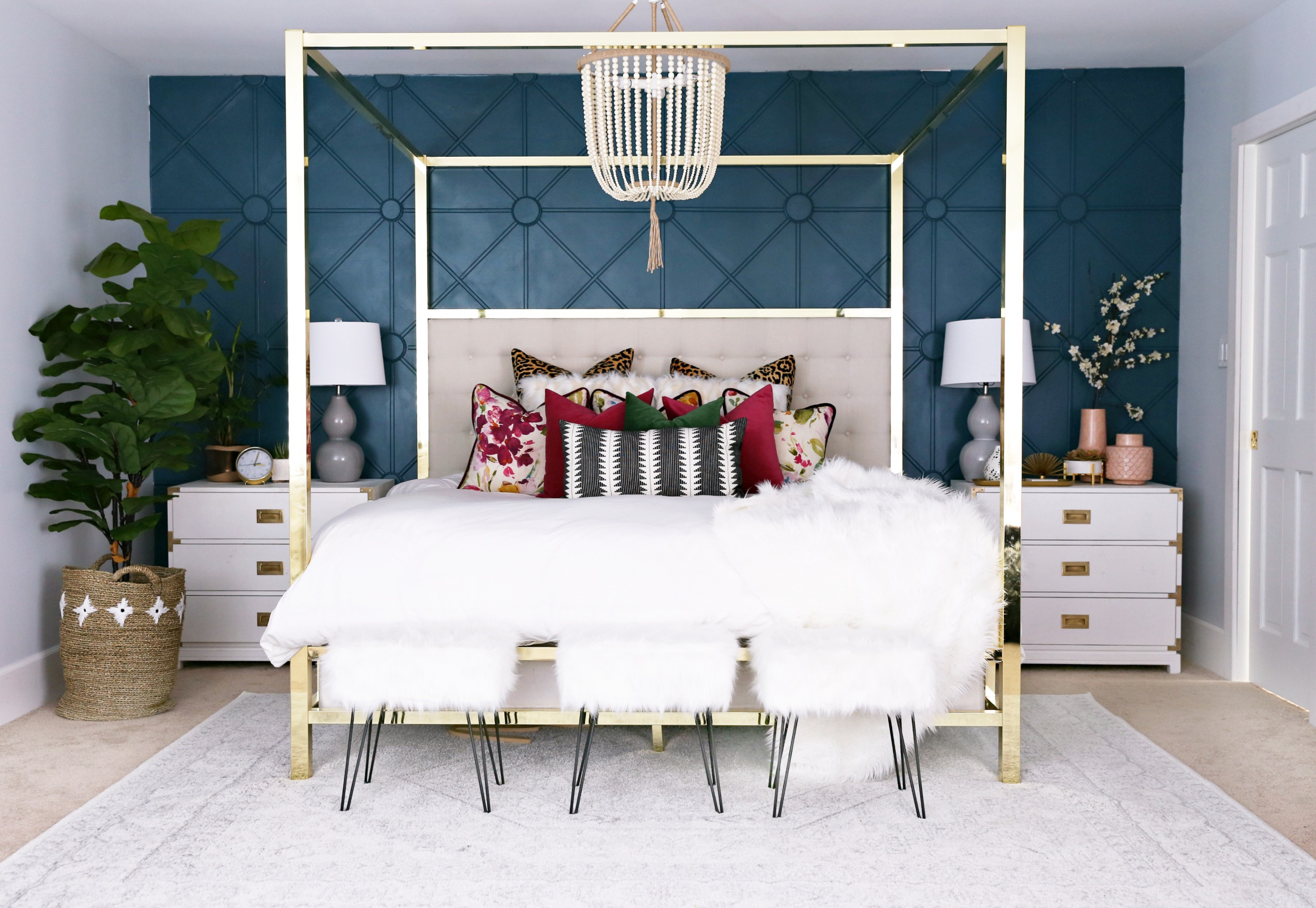 Best ideas about Master Bedroom Accent Wall . Save or Pin Master Bedroom Makeover with Awesome Accent Wall Classy Now.