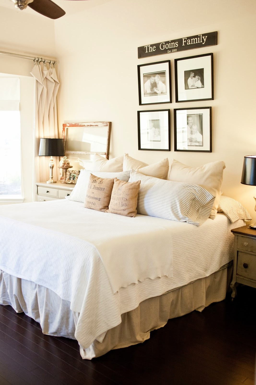 Best ideas about Master Bedroom Decor . Save or Pin the little cottage on the pond Our master bedroom Now.