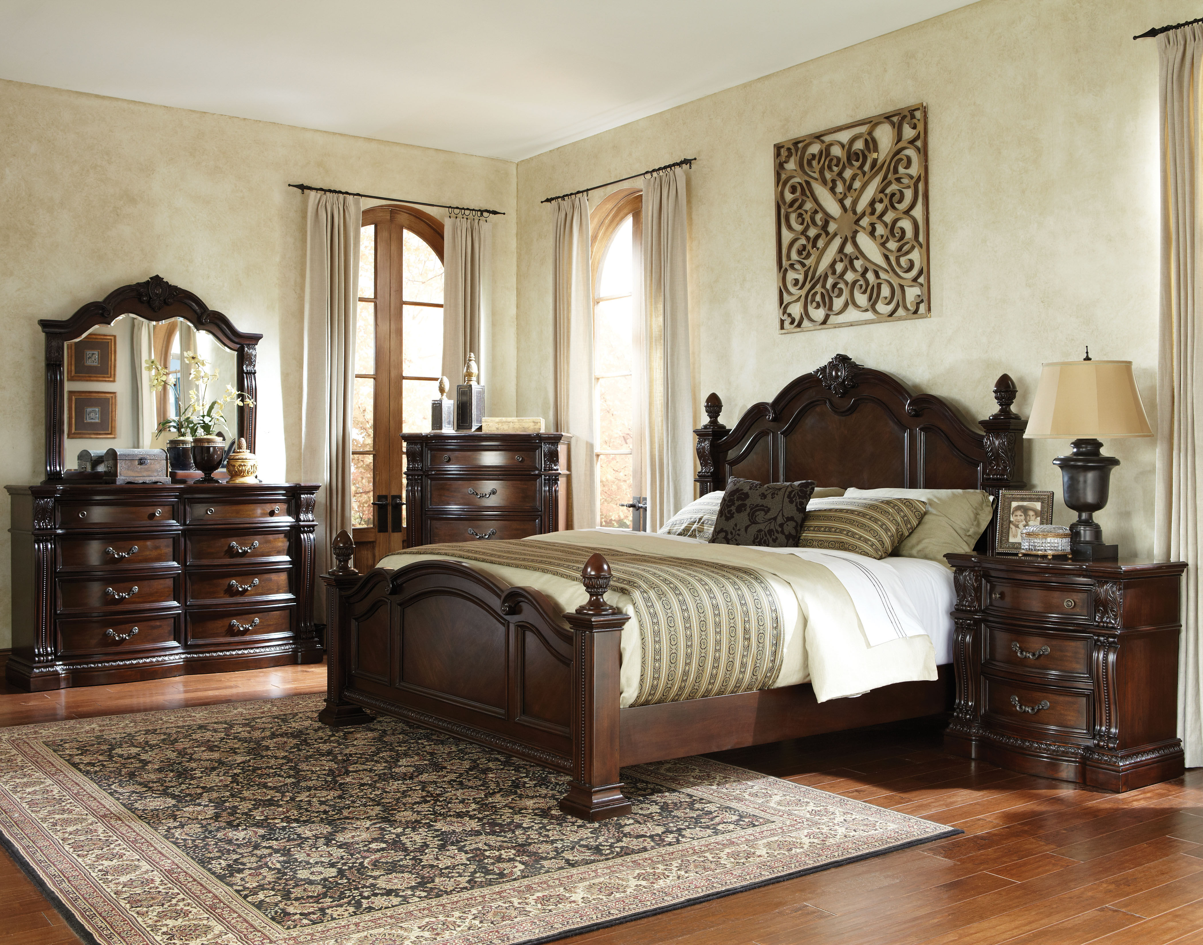 Best ideas about Master Bedroom Sets . Save or Pin Churchill Traditional Brown Hardwood Master Bedroom Set Now.
