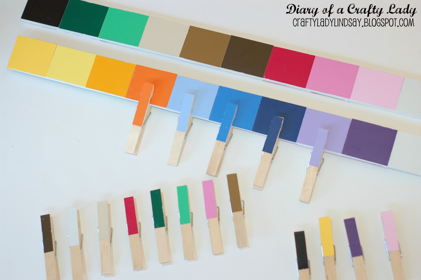 Best ideas about Matching Paint Colors . Save or Pin Diary of a Crafty Lady Paint Stick Paint Chip Color Now.