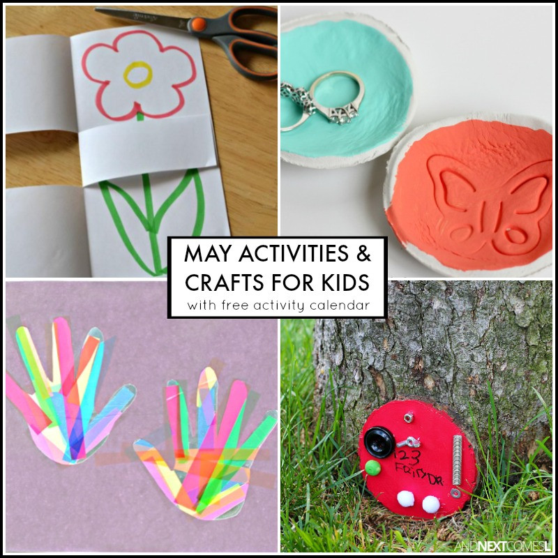 Best ideas about May Crafts For Kids . Save or Pin 31 May Activities for Kids Free Activity Calendar Now.
