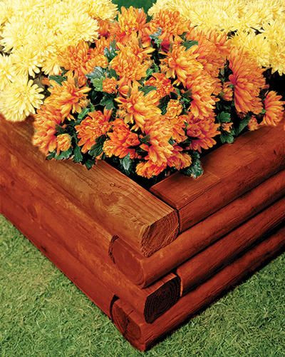 """Best ideas about Menards Landscape Timbers . Save or Pin 3"""" x 4"""" x 8 Cherry Stained Landscape Timber at Menards Now."""