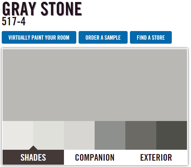 Best ideas about Menards Paint Colors . Save or Pin pittsburgh paints menards gray stone Now.
