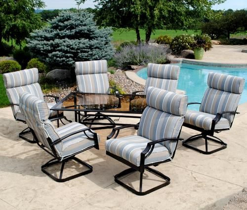 Best ideas about Menards Patio Furniture . Save or Pin Backyard Creations 7 Piece Pacifica Dinning Collection at Now.