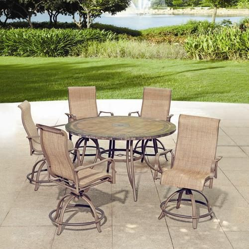 Best ideas about Menards Patio Furniture . Save or Pin Backyard Creations 6 Piece Avondale Balcony Dining Now.